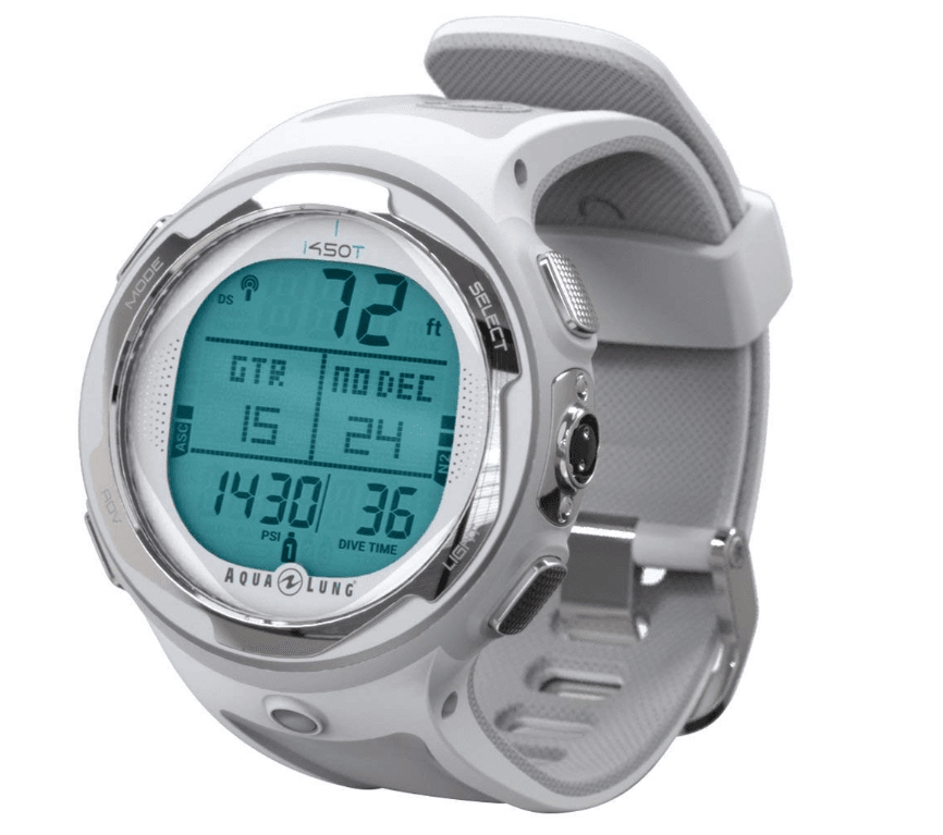 Aqua Lung i450t Hoseless Air Integrated Wrist Watch Dive Computer
