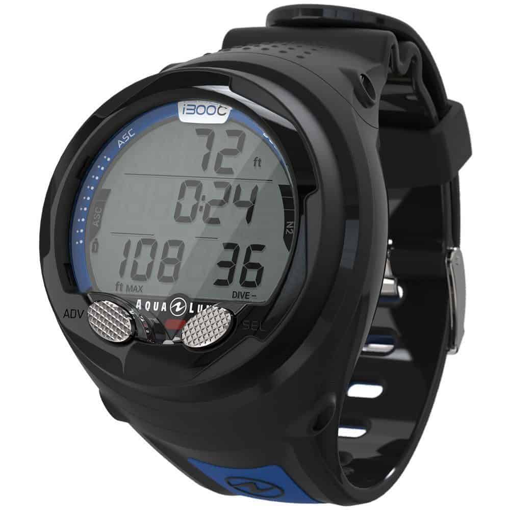 AquaLung i300C Wrist Dive Computer Blue Black