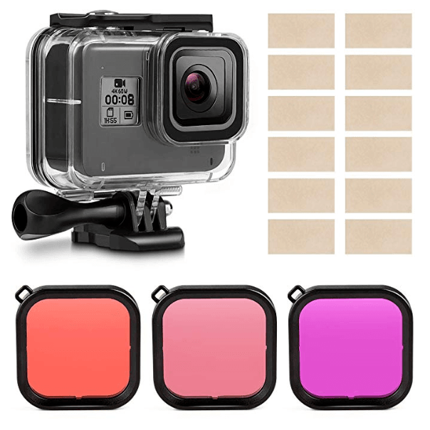 Kupton Housing Case Filter Kit for GoPro Hero