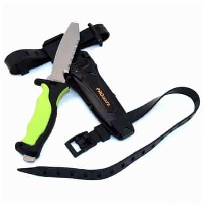 Promate Scuba Dive Snorkel Titanium Knife - Yellow