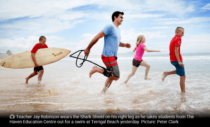 Shark Shield Freedom7 and Surf Classes