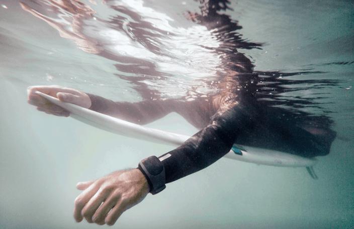 Sharkbanz Active Shark Deterrent -Wrist on Surfer