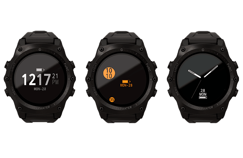 Shearwater Research Teric Dive Computer Watch Face Options