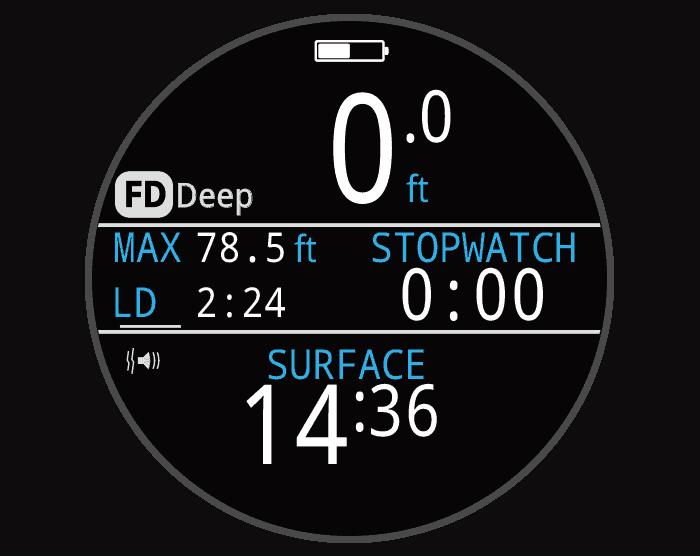 Teric Dive Computer Free Dive Mode