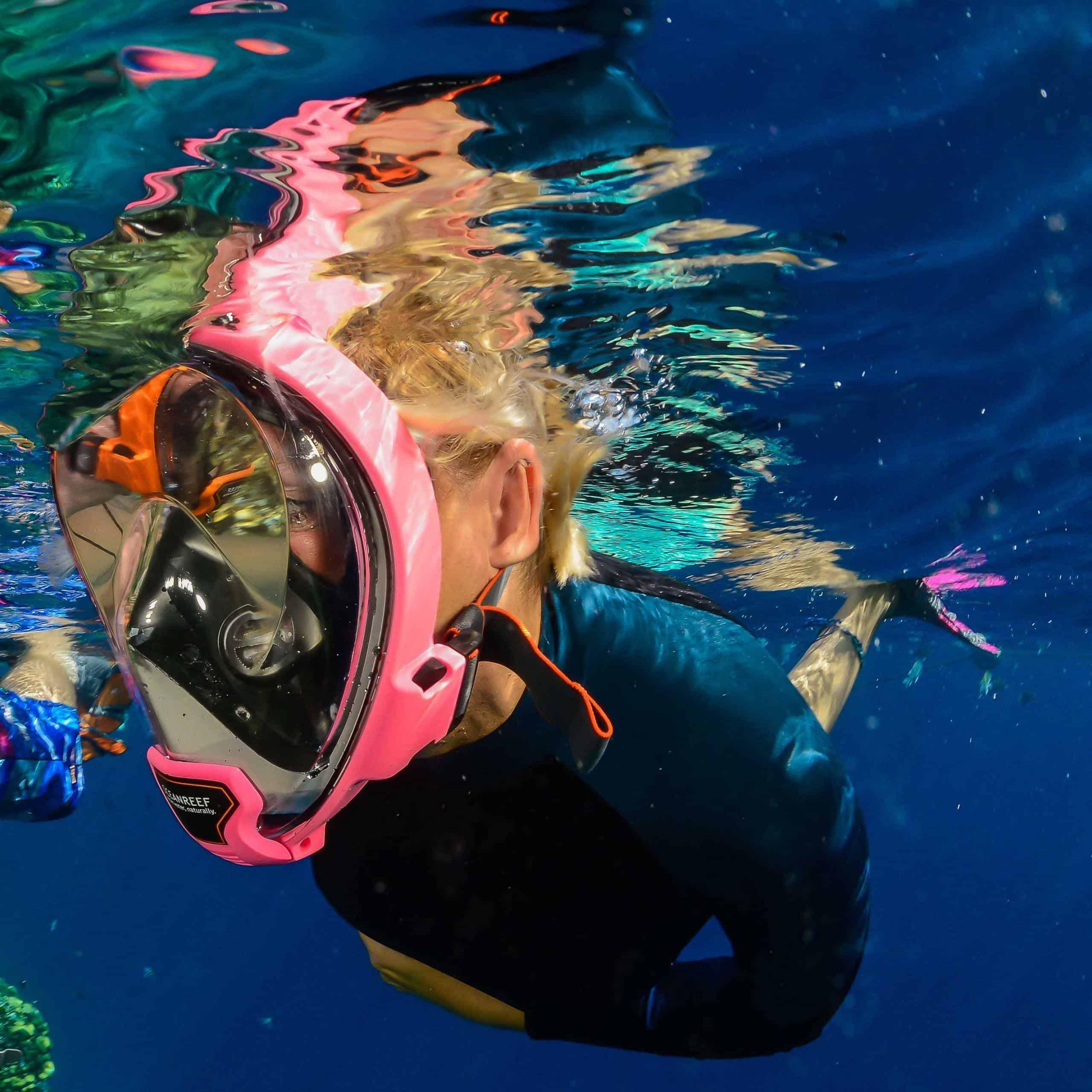 Aria Snorkel Mask Pink