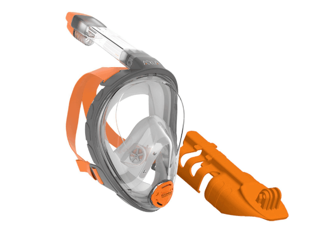 Aria Full Face Snorkel Mask with Camera Mount Accessory