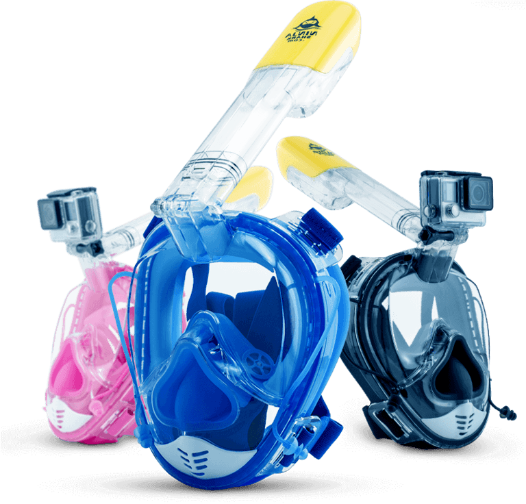 THENICE Full Face Snorkel Mask for Kids Advanced Breadthing System Foldable 180 Degree Panoramic View Snorkeling Mask and Fun Kids Set Set Design Safe Anti-Leak /& Anti-Fog