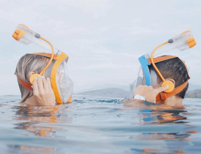 Ocean Reef Snorkie Talkie Aria Mask System