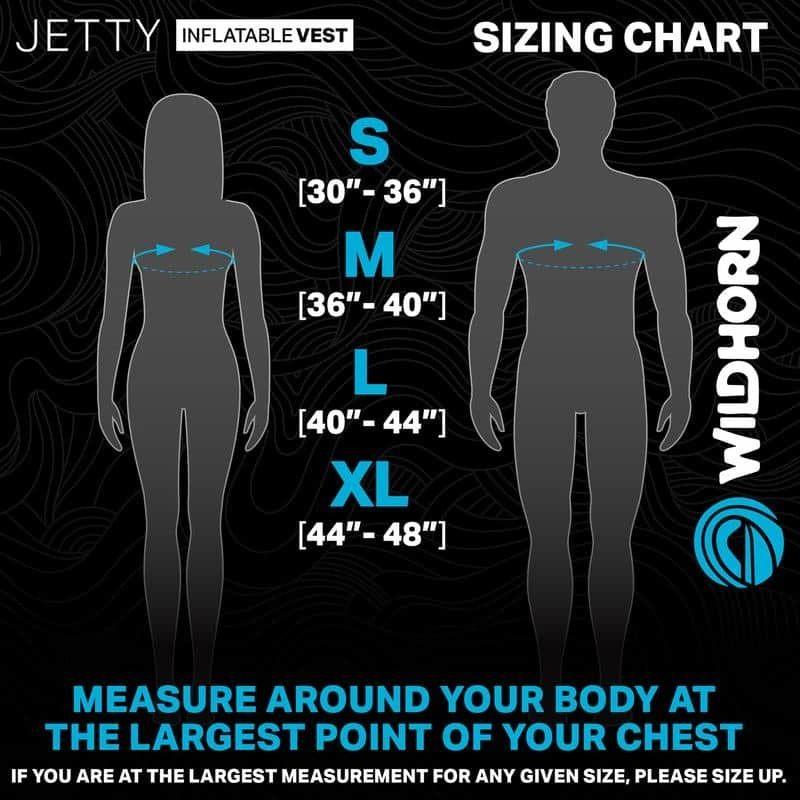 Jetty Snorkel Vest Size Chart