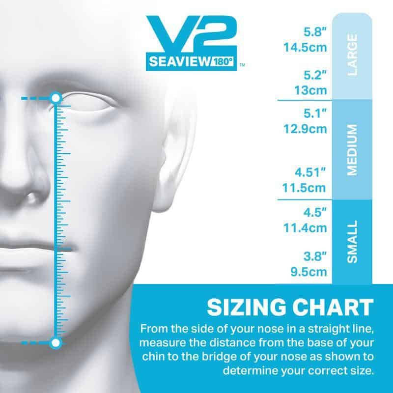 Wildhorn Outfitters V2 Full Face Snorkel Mask Size Chart