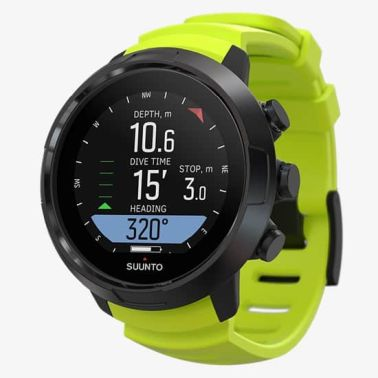 Suunto D5 black and lime Side