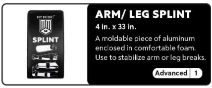 Arm - Leg Splint 0-1